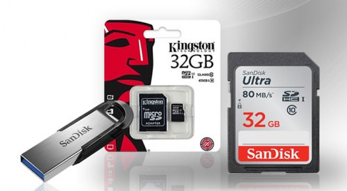 Memory cards and USB flash drives